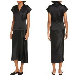 ZERO + MARIA CORNEJO Iro Faux Wrap Midi Dress